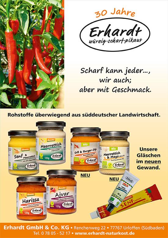 Erhardt Naturkost - Unser neuer Flyer