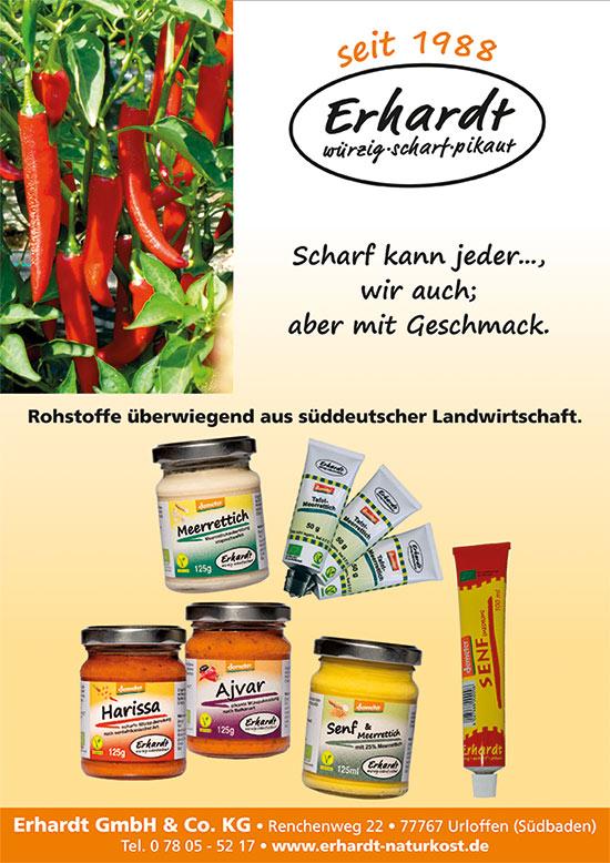 Erhardt Naturkost GmbH Urloffen- Unser neuer Flyer